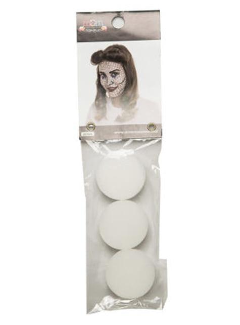 Kit 3 esponjas de maquilhagem