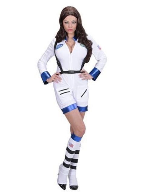 Disfraz de mujer astronauta blanco para mujer