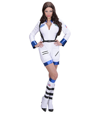Déguisement femme astronaute blanc