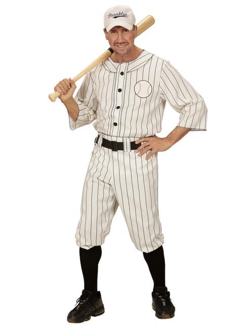 Honkbalspeler kostuum voor mannen