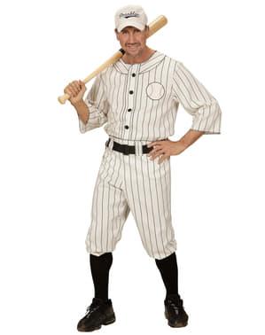 Fato de jogador de beisebol para homem