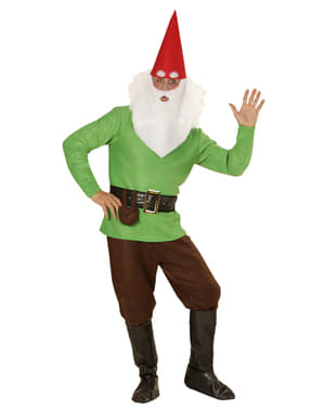 Mens Plus Size Happy Gnome Costume