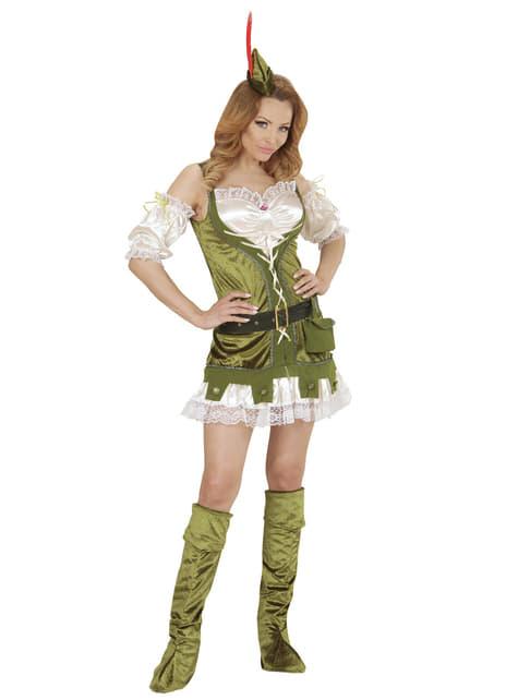 Disfraz de Robin del bosque para mujer