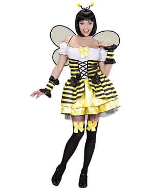 Déguisement abeille curieuse femme