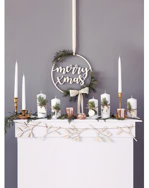 Décoration à suspendre en bois Merry Xmas