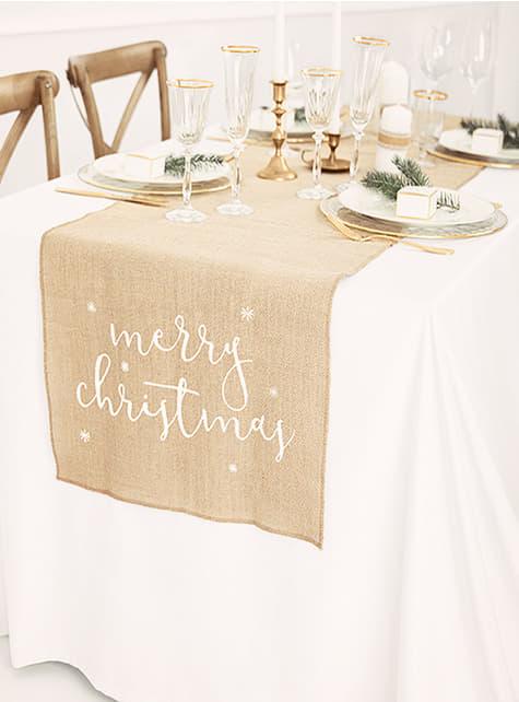 Camino de mesa Merry Christmas - para tus fiestas