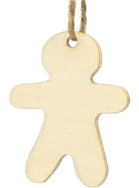 12 etiquetas navideñas de madera para regalos - para tus fiestas