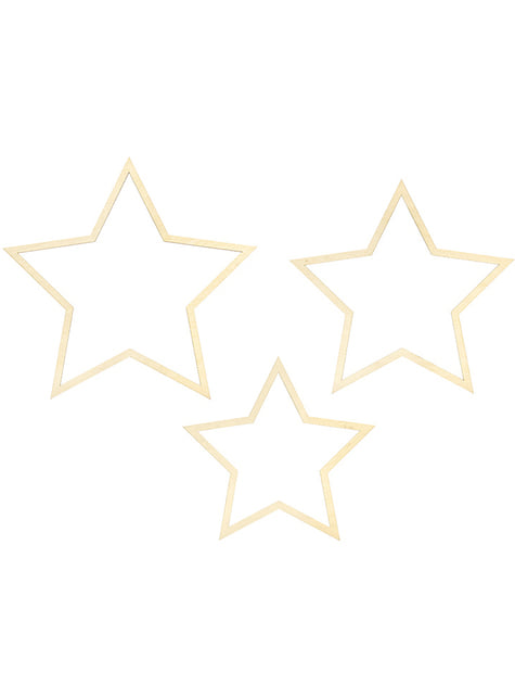 3 decoraciones colgantes en forme d'étoile