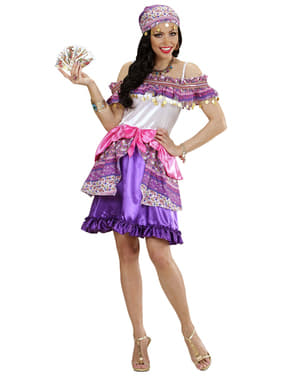 Disfraz de zíngara pitonisa para mujer