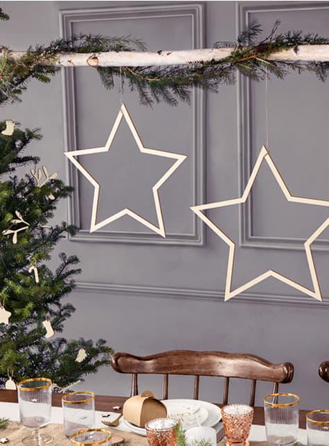3 decorações de pendurar em forma de estrela - para as tuas festas