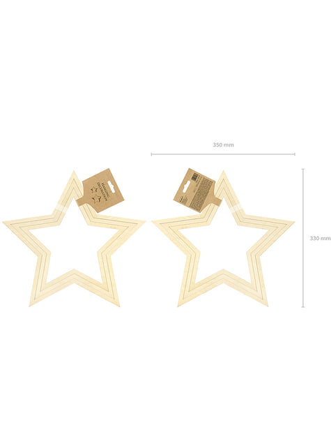 3 decorações de pendurar em forma de estrela - compra