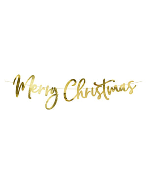 Decoración colgante Merry Xmas dorado