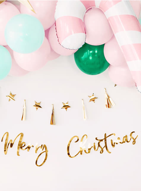 Decoración colgante Merry Xmas dorado - barato