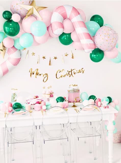 Decoración colgante Merry Xmas dorado - comprar