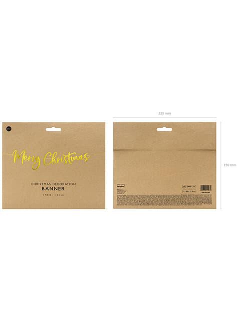 Decoración colgante Merry Xmas dorado - para niños y adultos