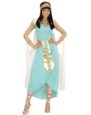 Ägypterin Kostüm blau für Damen
