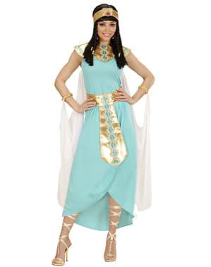 Fato de rainha egípcia azul para mulher