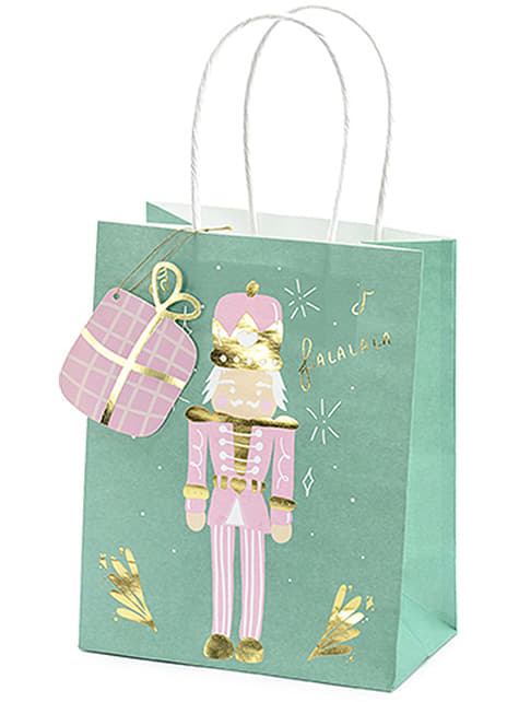 3 bolsas de regalo navideñas tonos pastel - para tus fiestas