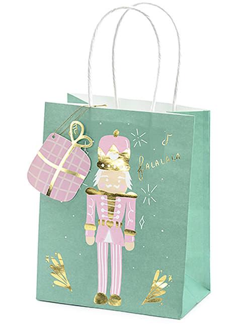 3 vánoční dárkové sáčky v pastelových odstínech - pro party