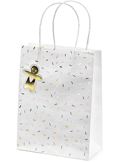 3 bolsas de regalo navideñas tonos pastel - barato