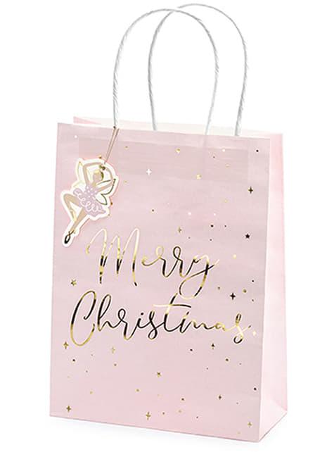 3 vánoční dárkové sáčky v pastelových odstínech - koupit