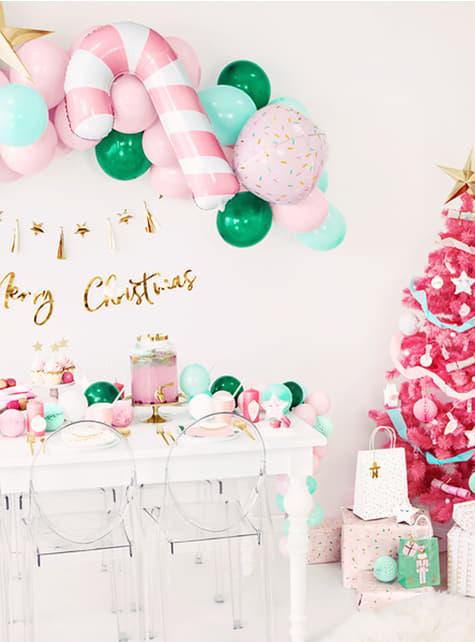3 weihnachtliche Geschenktüten in Pastelltönen