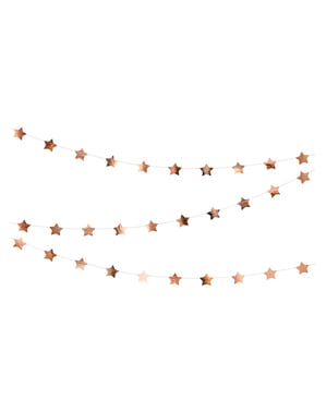 Guirnalda de estrellas oro rosa