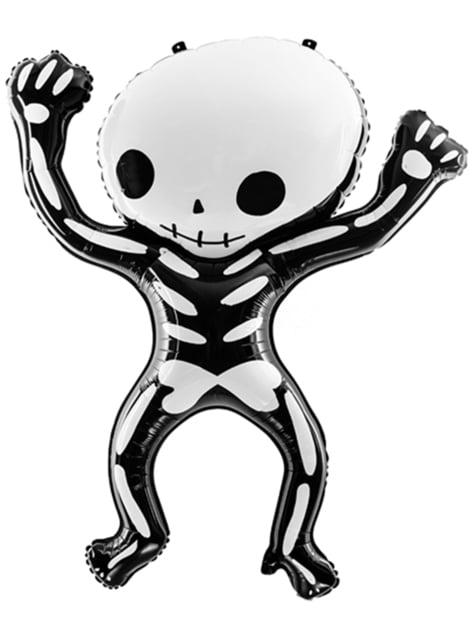 Globo de foil Esqueleto Halloween (84x10 cm)