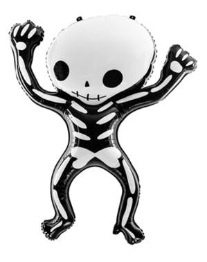 Folieballon af et Halloween skelet (84x10 cm)