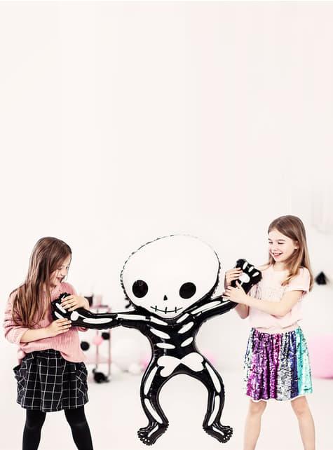 Globo de foil Esqueleto Halloween (84x10 cm) - para tus fiestas