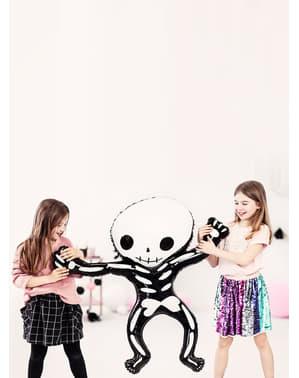Palloncino di foil a forma di Scheletro Halloween (84x10 cm)