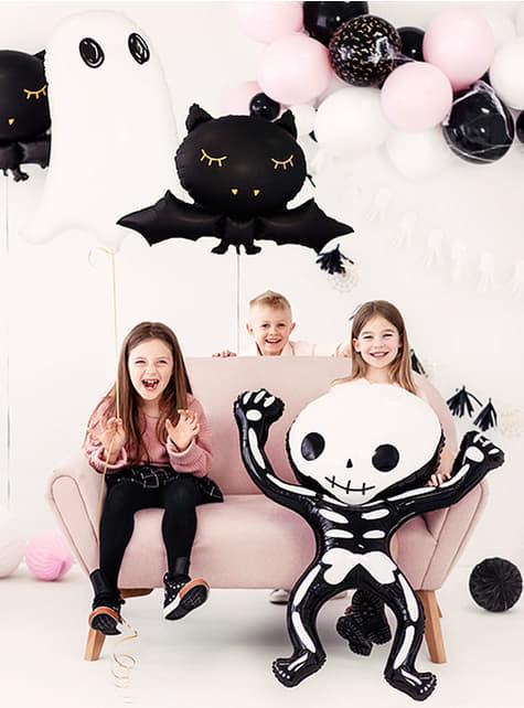 Globo de foil Esqueleto Halloween (84x10 cm) - barato