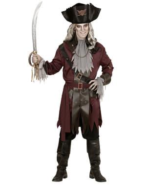Zombie Kaptajn Kostume til Mænd Plus Størrelse