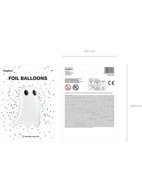 Ballon aluminium fantôme Halloween (48x68 cm) - acheter