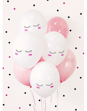 50 extra strong balloons with smiley unicorn (30 cm)