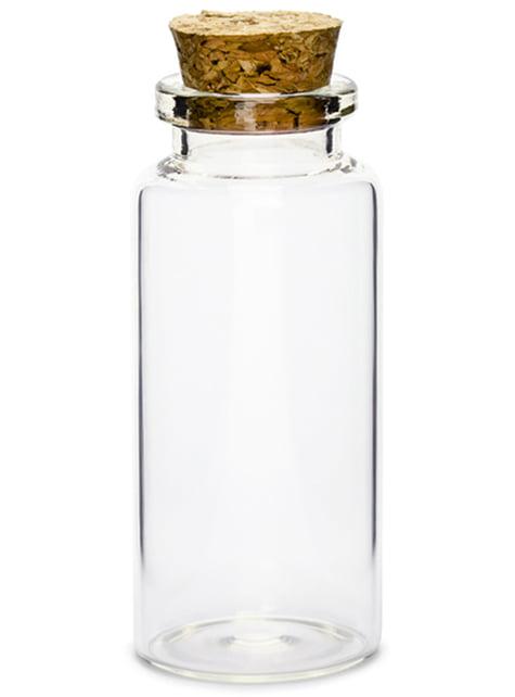12 botellas de cristal (7,5 cm)