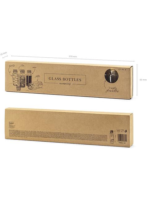 12 Glass Bottles (7.5 cm) - buy
