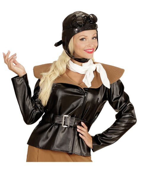 Disfraz de aviadora retro para mujer - mujer