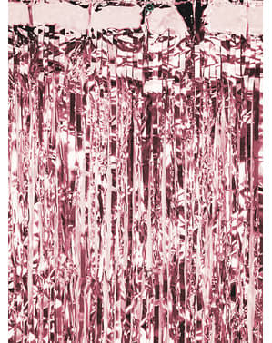 Cortina de flecos color oro rosa (2,5 m)