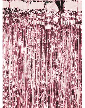 Cortina de franjas ouro rosa (2,5 m)