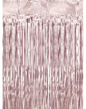 Rideau à franges rose (2,5 m)