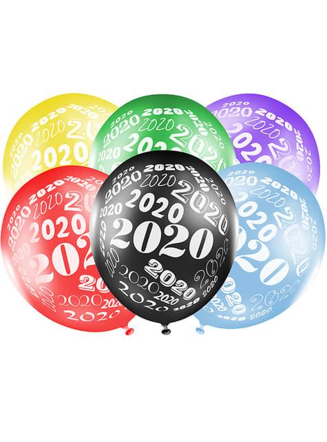 6 ballons couleurs métallisés Nouvel An
