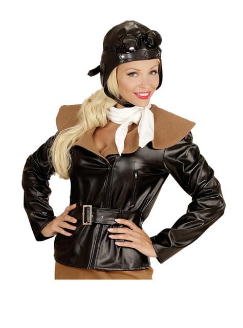 Disfraz de aviadora retro para mujer - original