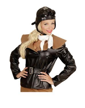 Retro piloot kostuum voor vrouw