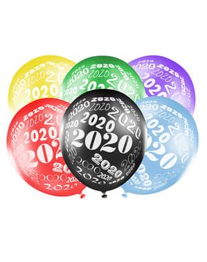 50 ballons couleurs métal Nouvel An
