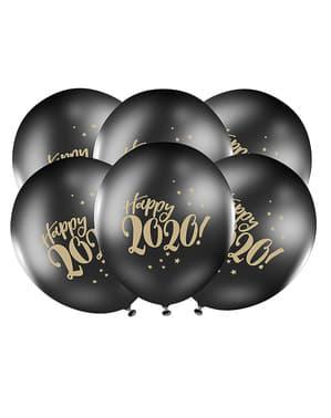 50 ballons noir pastel Nouvel An