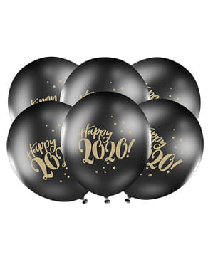 50 czarne balony
