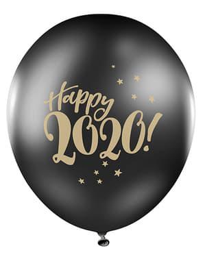 50 baloane negru pastel Revelion