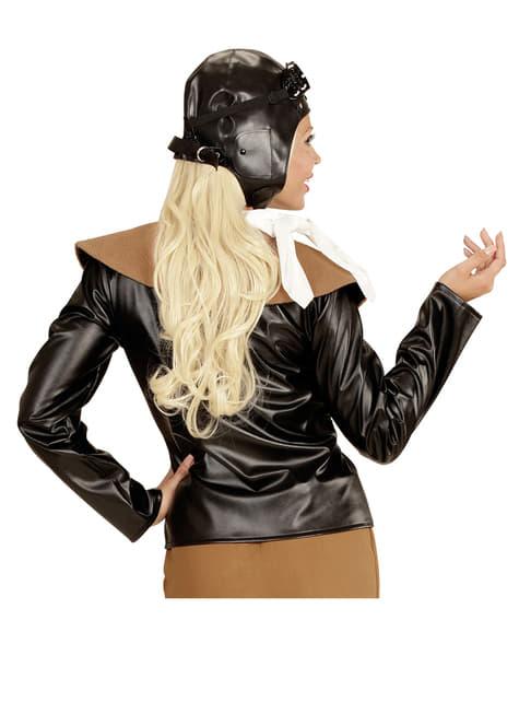 Disfraz de aviadora retro para mujer