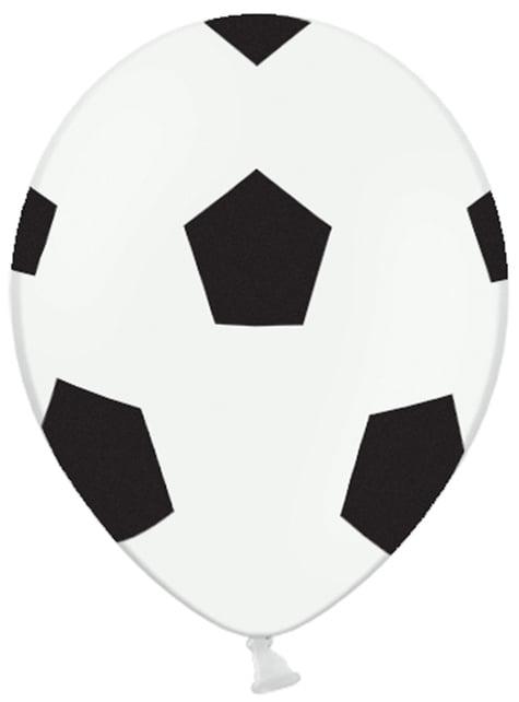 6 Fußball Luftballons (30 cm)